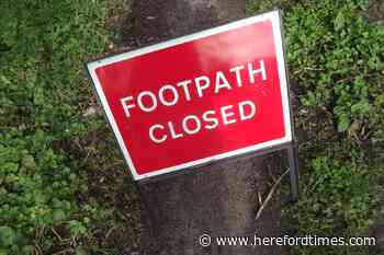 How many Herefordshire public rights of way are actually closed?