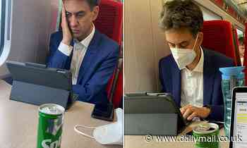 Ed Miliband is slammed by rail passenger for ignoring guidance and not wearing face mask