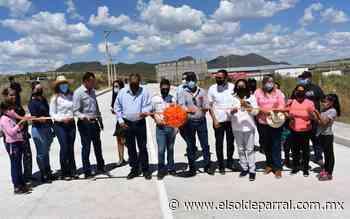 Inauguran acceso al fraccionamiento Santa Elena - El Sol de Parral