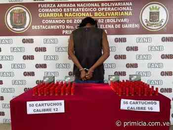 Con municiones fueron detenidos en Santa Elena de Uairén - Diario Primicia - primicia.com.ve