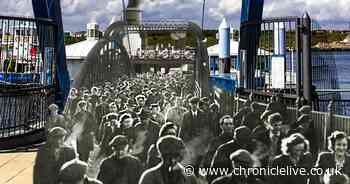 The South Shields-North Shields ferry across the River Tyne - then and now
