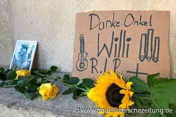 Blumen zum Abschied von Onkel Willi
