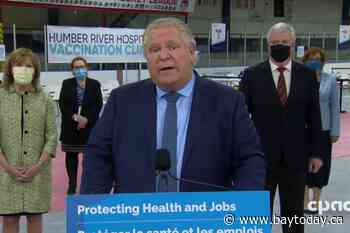 LIVE at 11:30 a.m.: Premier Doug Ford providing vaccine certificate rollout update