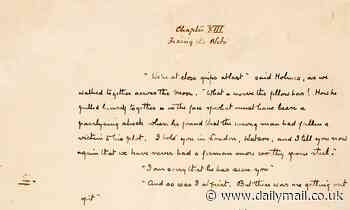 One page from original manuscript for The Hound of the Baskervilles goes on sale for £145,000