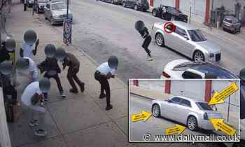 Philadelphia police released footage of a drive-by shooting, one dead and five wounded