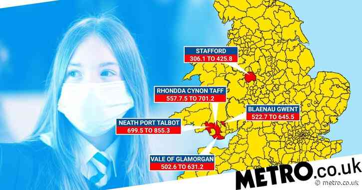 Map reveals new hotspots as schools become Covid breeding ground