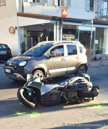 Sanremo: automobilista abbagliato dal sole tampona scooter a San Martino (Foto) - SanremoNews.it