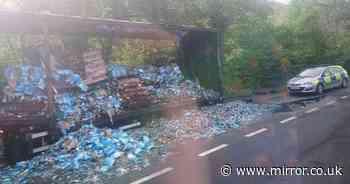 Raiders steal £250,000 of Blue WKD from bottling plant before fleeing in trucks