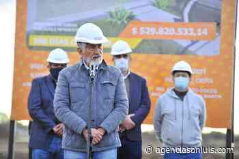 En Villa Mercedes el gobernador dio inicio a la construcción de 300 viviendas sociales - Agencia de Noticias San Luis