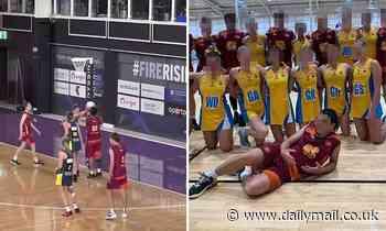 All-boys netball team dominate girls team 46-12 in under-18s state final - sparking backlash