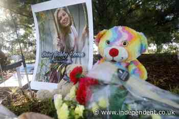 Gabby Petito: Stepfather lays flowers at site where YouTuber's body was found