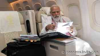 PM Narendra Modi means business: Work mode on during his flight to US, all set for Quad summit