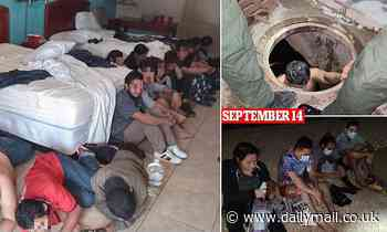 Border patrol agents find 16 illegal migrants in a hotel room after using storm drain to enter US