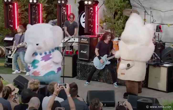 Watch adorable mascots rock out onstage during Foo Fighters set