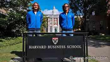 Stefanos Tsitsipas & Feliciano Lopez Visit Harvard Ahead Of Laver Cup - ATP Tour