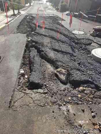 Piden completar trabajo de reparación de drenaje, en Indeco-Ánimas de Xalapa - alcalorpolitico