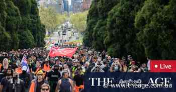 Melbourne protests as it happened: Victoria Police quell demonstrations as fifth straight day of protests looms