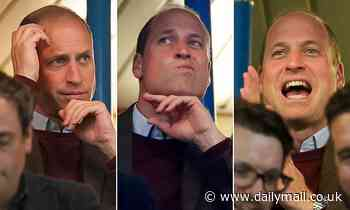 Prince William watches Aston Villa play Chelsea as Prince Philip documentary airs