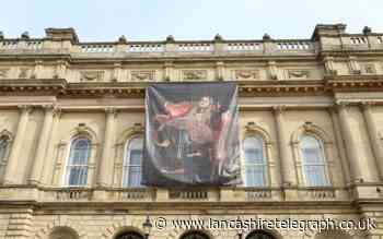 Jaw-dropping artwork appears on Blackburn Town Hall to mark start of British Textile Biennial