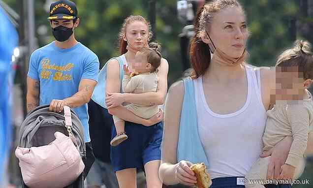 Sophie Turner and husband Joe Jonas take their one-year-old daughter Willa on a stroll around NYC - Daily Mail