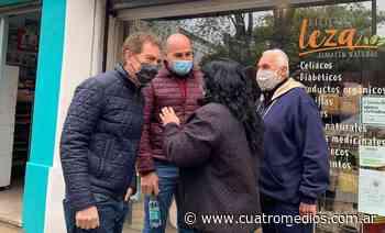 Bernal: Santilli y Martiniano dialogaron con vecinos y comerciantes - Cuatro Medios