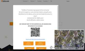 Crypto website Bitcoin.org is hacked with pop-up asking visitors to send money to 'earn double'
