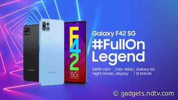 Samsung Galaxy F42 5G India Launch Set for September 29, Will Come With MediaTek Dimensity 700 SoC