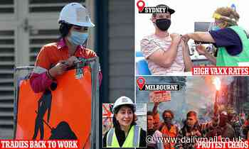 Sydney tradies will be back on the tools next week as Melbourne rioters oppose mandatory vaccines