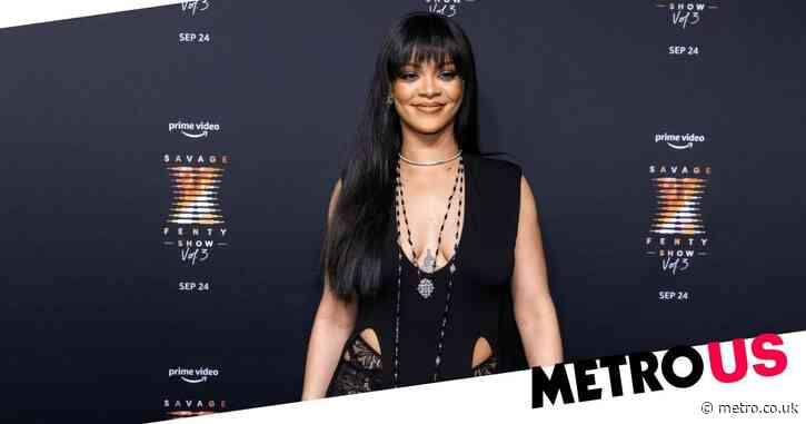 Rihanna slays in black lace and sheer stockings as she rocks up to taping of her star-studded Savage X Fenty Vol. 3 fashion show