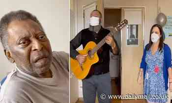 Pele's daughter posts video of the soccer legend singing as he celebrates leaving intensive care
