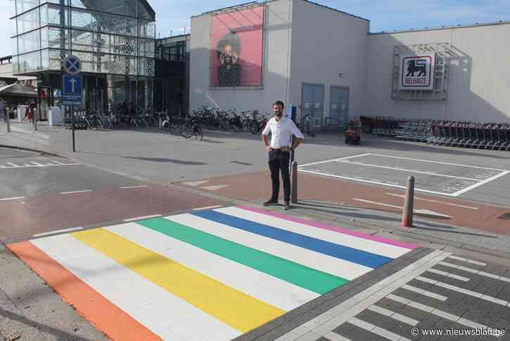 Ook winkelcentrum krijgt regenboogzebrapad