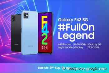 Samsung Galaxy F42 5G is coming September 29th