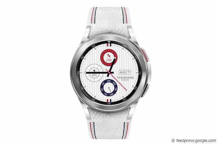 Samsung Galaxy Watch4 Classic Thom Browne Edition unveiled