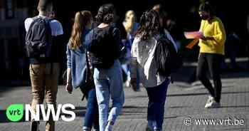 Leerlingen van school in Diest protesteren tegen verbod om school te verlaten tijdens middagpauze - VRT NWS