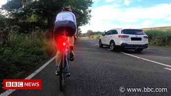 Dame Sarah Storey: Paralympian abused during cycling safety drive - BBC News