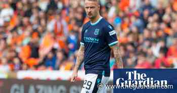 Dundee's Leigh Griffiths apologises for kicking smoke bomb into stands