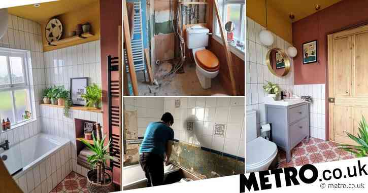 Couple transforms dated bathroom into modern masterpiece with the help of YouTube