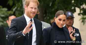 Meghan Markle and Harry hold hands in New York for first public visit since quitting UK