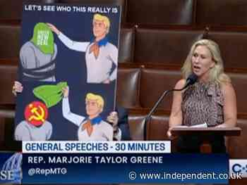 MTG uses bizarre Scooby Doo meme to claim that Green New Deal is communism in disguise