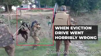 Caught on camera: Assam police shoot dead alleged encroacher; video viral