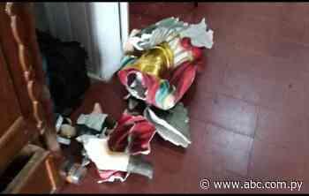 Villarrica: estatua de San Miguel se rompe en medio de novenario - ABC Color