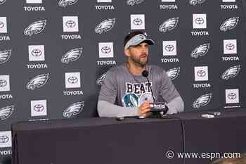 'I'll be wearing this all week': Eagles coach Nick Sirianni wears 'Beat Dallas' shirt ahead of matchup with Cowboys