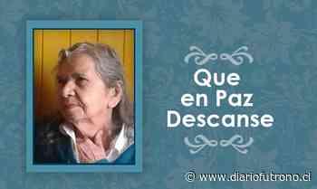 [Defunción] Falleció Ema del Carmen Castillo Riquelme QEPD - Diario Futrono