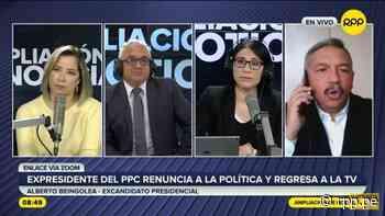 """Alberto Beingolea tildó de """"pésimo"""" el Gobierno de Pedro Castillo: """"Se ve la incapacidad de muchos que están ahí"""" - RPP Noticias"""