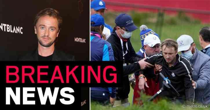 Harry Potter star Tom Felton stretchered off golf course after medical emergency during celebrity Ryder Cup game