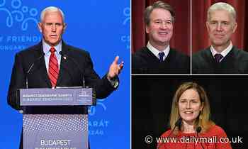 Pence hopeful that conservative majority on SCOTUS will soon overturn abortion rights in US