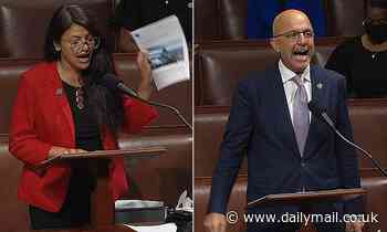 AOC cries on House floor after Iron Dome funding is approved and has to be comforted by lawmakers