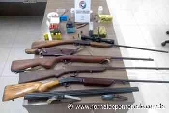 Polícia Militar apreende pequeno arsenal, em residência - Jornal de Pomerode