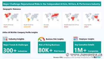 BizVibe Highlights Key Challenges Facing the Independent Artists, Writers, and Performers Industry | Monitor Business Risk and View Company Insights