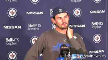 RAW: Winnipeg Jets Connor Hellebuyck Interview – Sept. 23